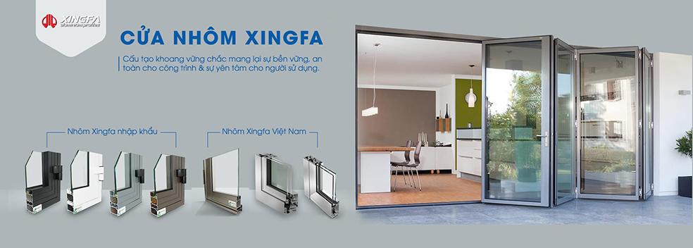 Mẫu thanh nhôm Xingfa nhập khẩu chính hãng